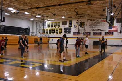 Students in P.E. Class